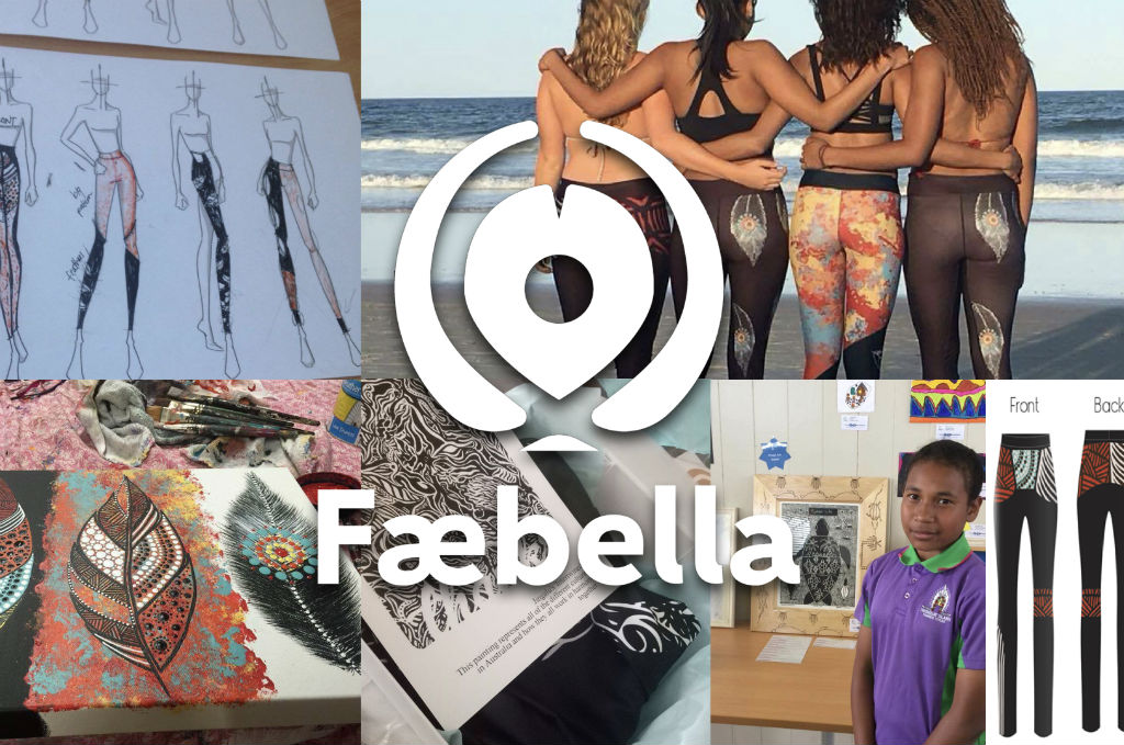 Faebella images with logo