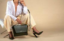 A model with an ahimsa collective bag