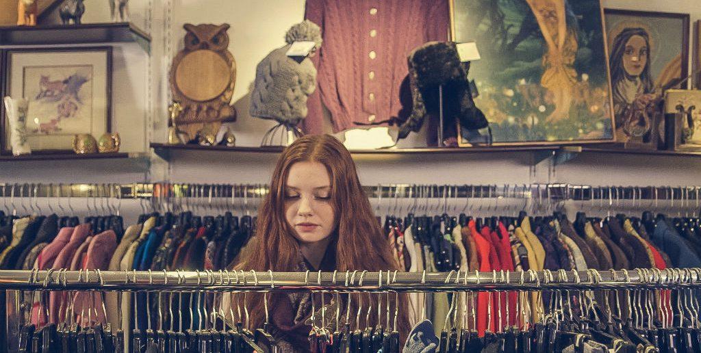 Woman in op shop