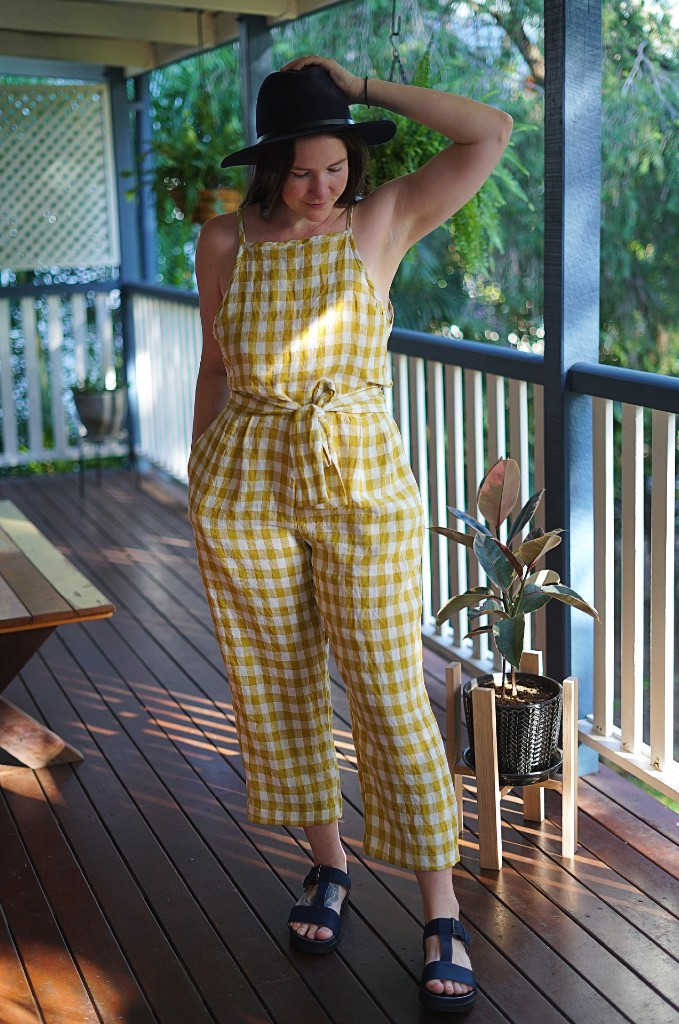 Completed gingham jumpsuit