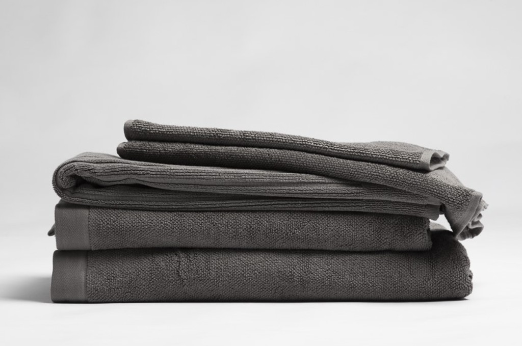 ecolinen charcoal towel stack